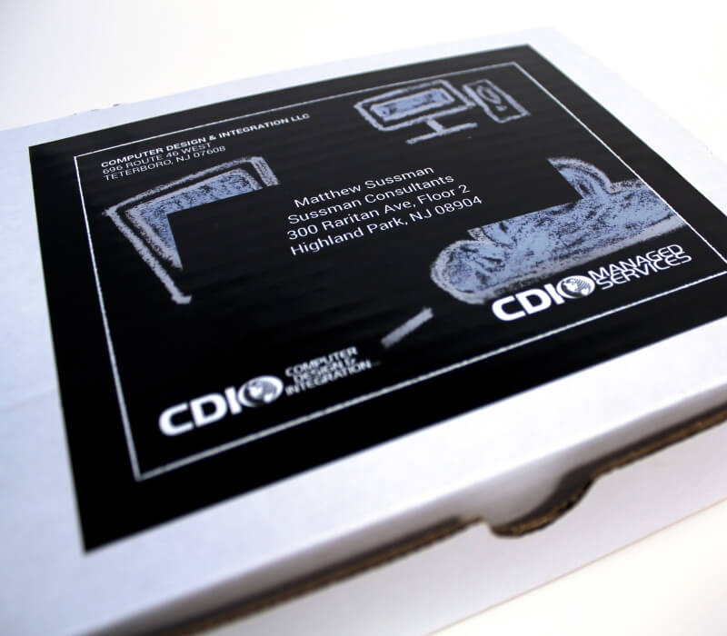 cdi sled education laptop mailer direct mail campaign diecut print graphic design